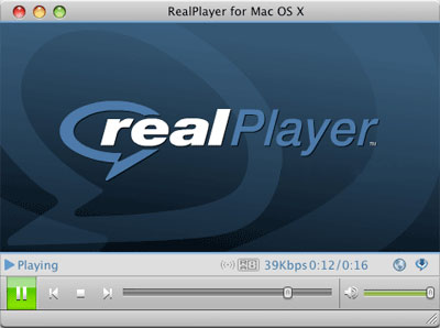 RealPlayer 11 GOLD OS X